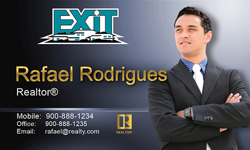 Blue Exit Business Card - Design #117043