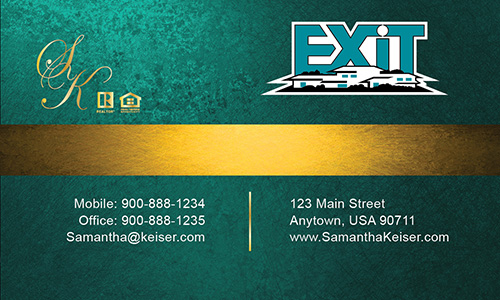 Green Exit Business Card - Design #117051