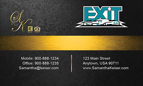 Black Exit Business Card - Design #117052