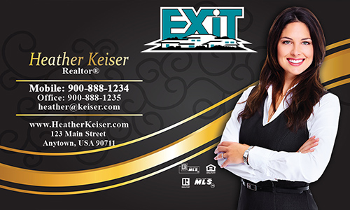 Exit realty business cards templates printifycards black exit business card design 117061 colourmoves Image collections