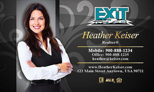Black Exit Business Card - Design #117072