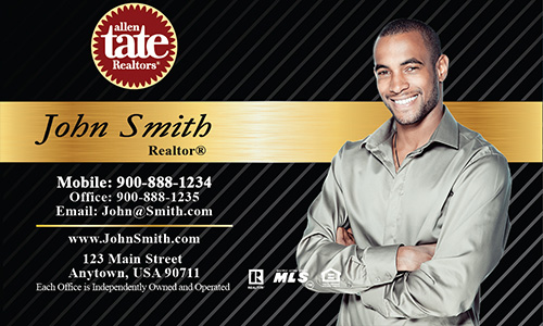 Black Allen Tate Realtors Business Card - Design #118021