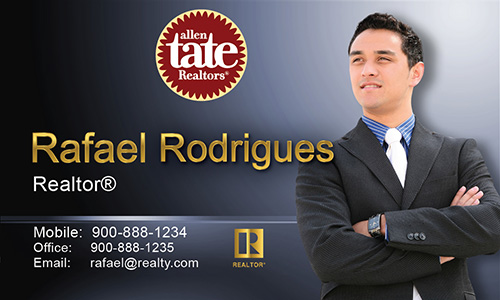 Blue Allen Tate Realtors Business Card - Design #118042
