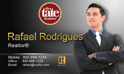 Black Allen Tate Realtors Business Card - Design #118043