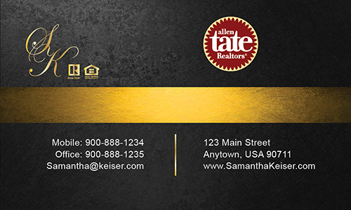 Black Allen Tate Realtors Business Card - Design #118052