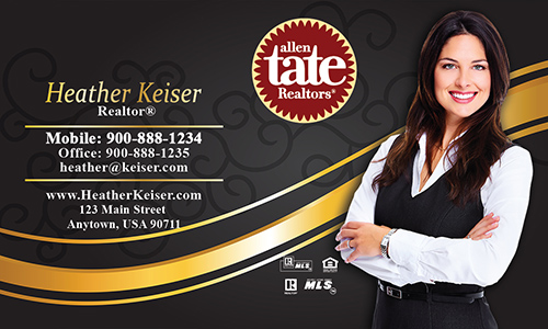 Black Allen Tate Realtors Business Card - Design #118061