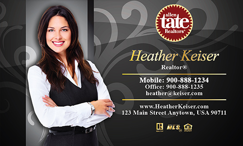 Black Allen Tate Realtors Business Card - Design #118071