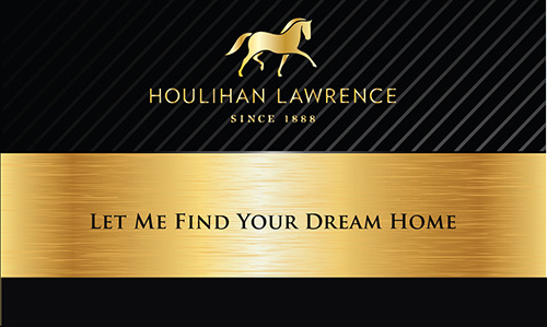 Black Houlihan Lawrence Business Card - Design #119031