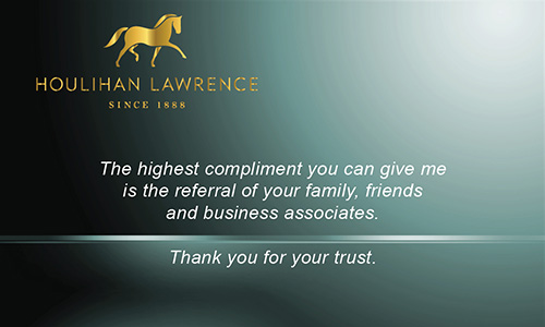Green Houlihan Lawrence Business Card - Design #119041