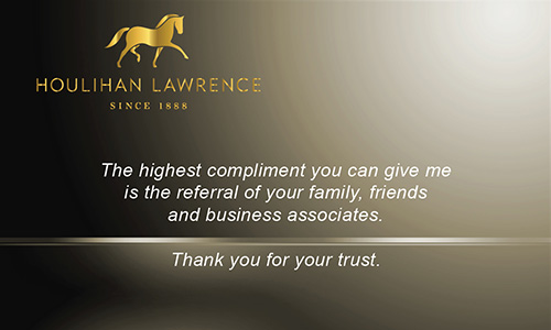 Brown Houlihan Lawrence Business Card - Design #119042