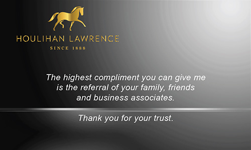 Black Houlihan Lawrence Business Card - Design #119043
