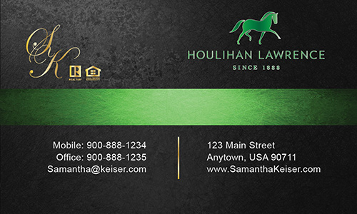Black Houlihan Lawrence Business Card - Design #119051