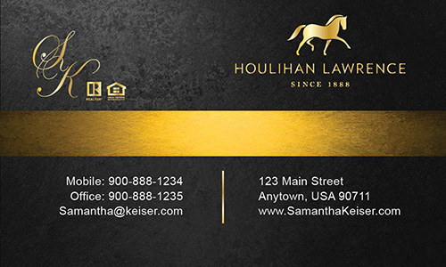 Gray Houlihan Lawrence Business Card - Design #119052