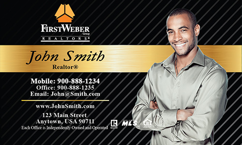 Black First Weber Business Card - Design #120021