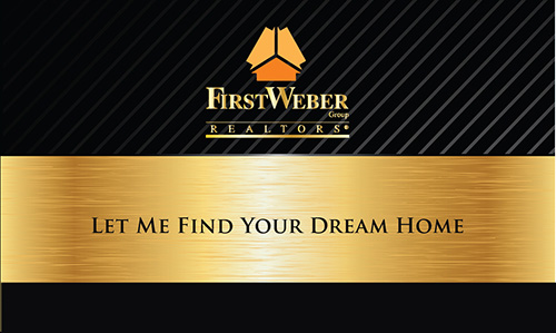 Black First Weber Business Card - Design #120031