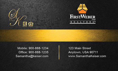 Black First Weber Business Card - Design #120051