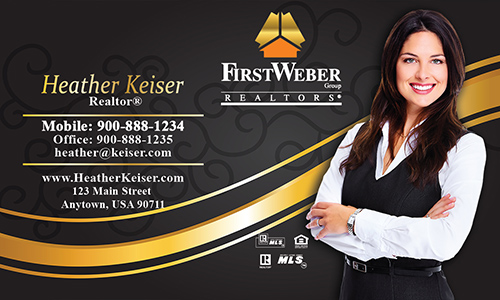 Black First Weber Business Card - Design #120061
