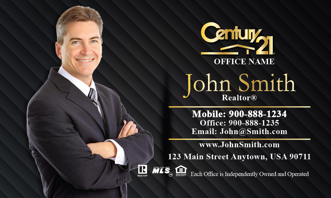 Century 21 Broker Business Card - Design #102061