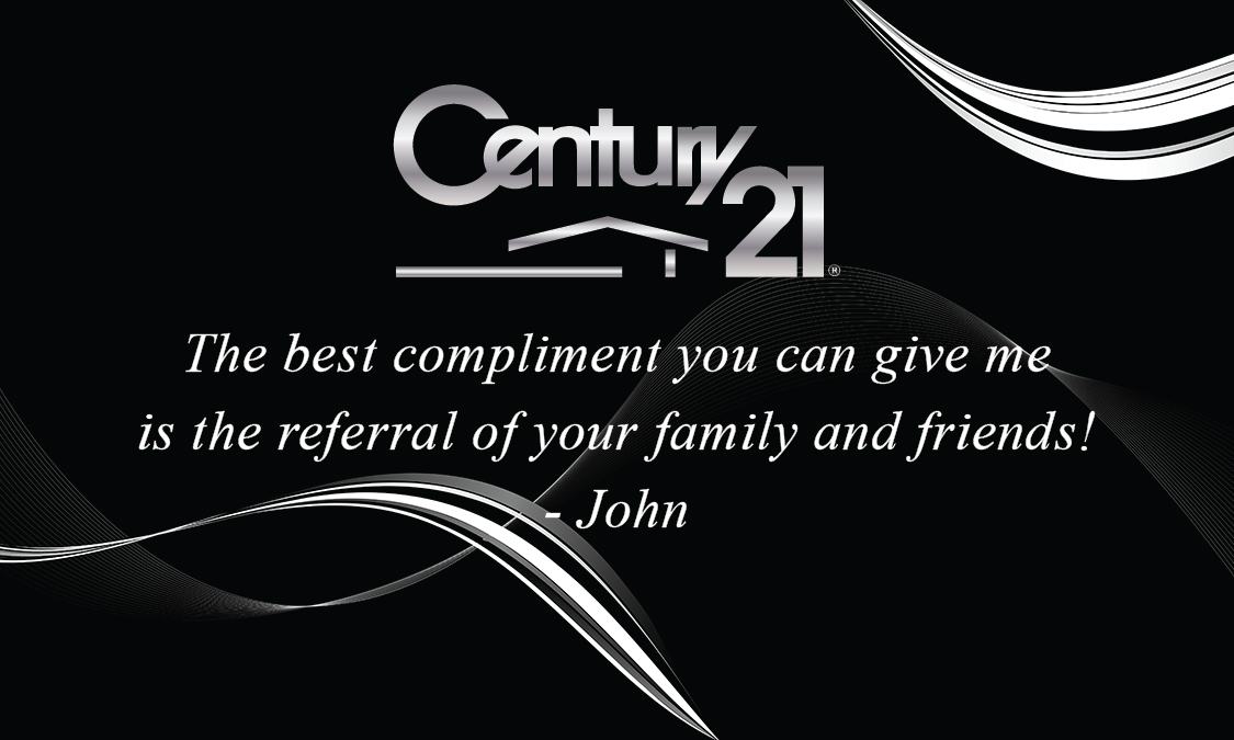 Century 21 Business Card with Agent Head shot Black