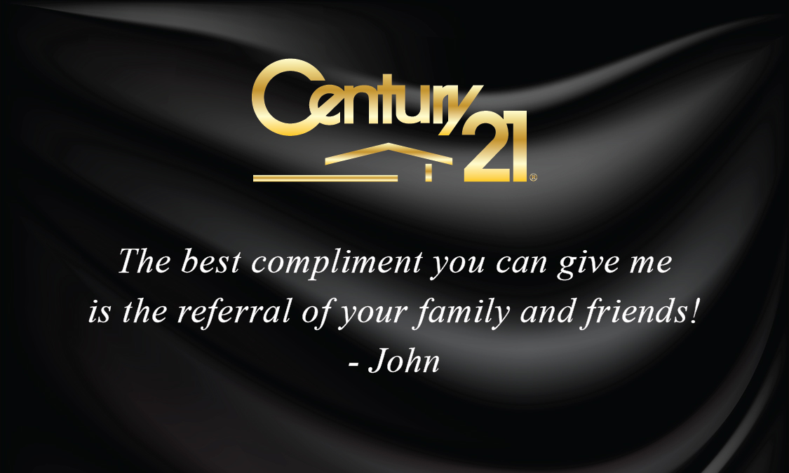 Century 21 Business Card Black Silk with Photo - Design #102141