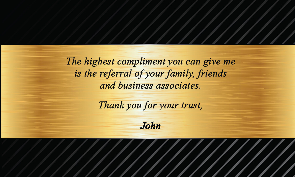 Century 21 Black and Gold Business Card - Design #102151