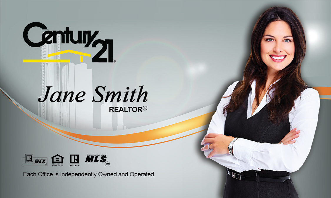 Century 21 real estate broker business card design 102161 accmission
