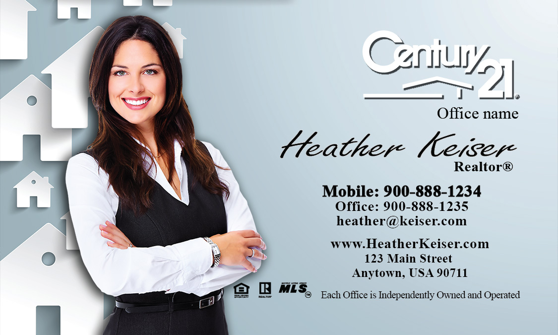 Mortgage Business Card Design - Century 21 business cards template