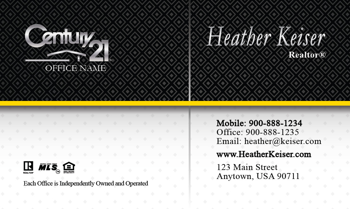 Century 21 Real Estate Business Card - Design #102231