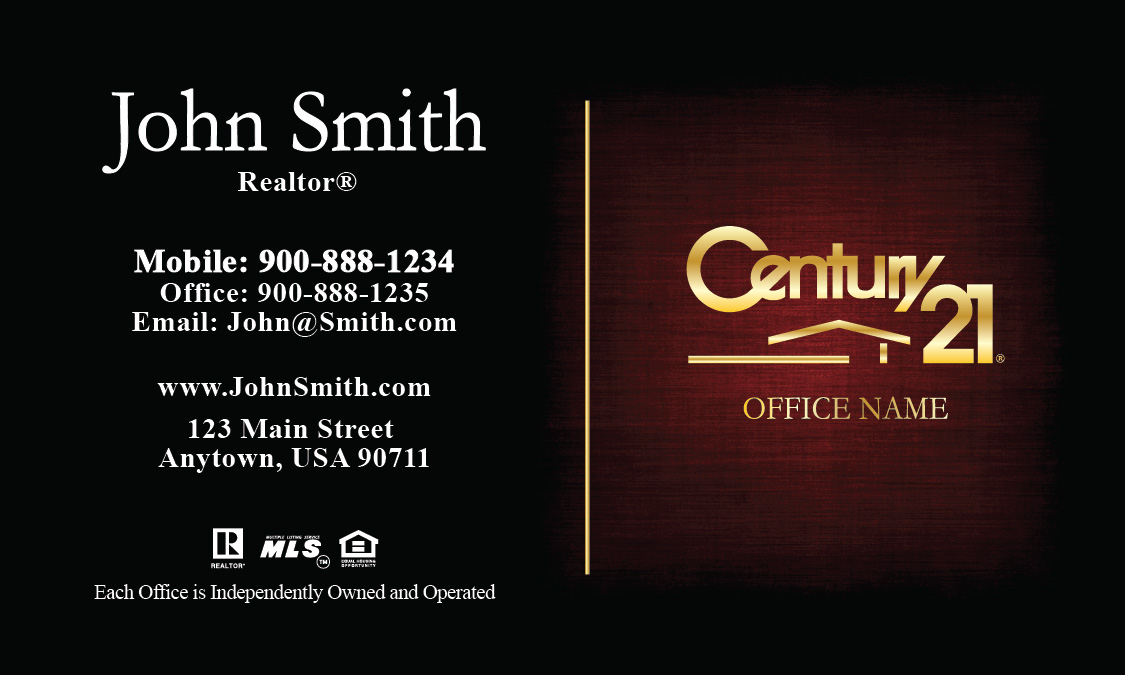 21 Realty Business Card - Design #102381