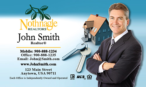 Blue Nothnagle Realtors Business Card - Design #121011