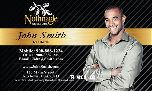 Black Nothnagle Realtors Business Card - Design #121021