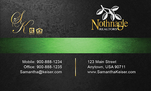 Black Nothnagle Realtors Business Card - Design #121041
