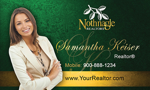 Green Nothnagle Realtors Business Card - Design #121042