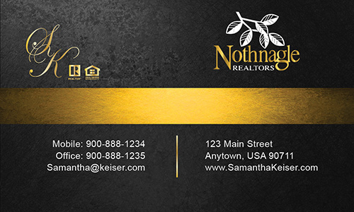 Gray Nothnagle Realtors Business Card - Design #121043