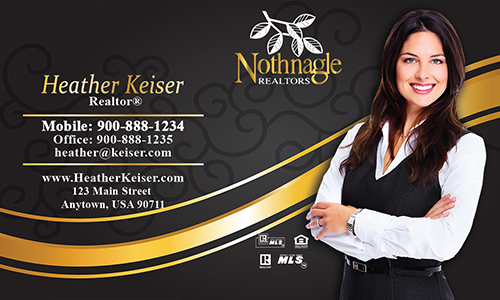 Black Nothnagle Realtors Business Card - Design #121051