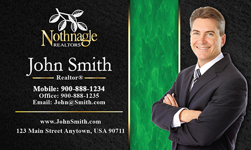 Black Nothnagle Realtors Business Card - Design #121061