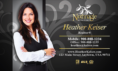 Black Nothnagle Realtors Business Card - Design #121071