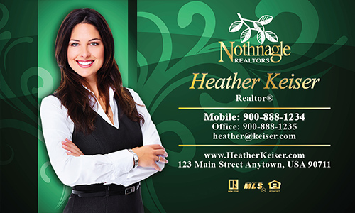 Green Nothnagle Realtors Business Card - Design #121072