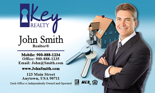 Blue Key Realty Business Card - Design #122011