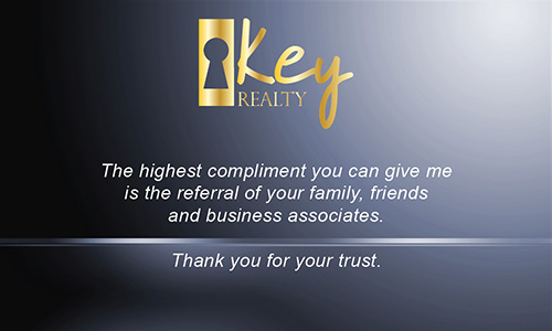 Blue Key Realty Business Card - Design #122041