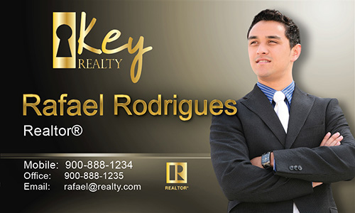 Brown Key Realty Business Card - Design #122042