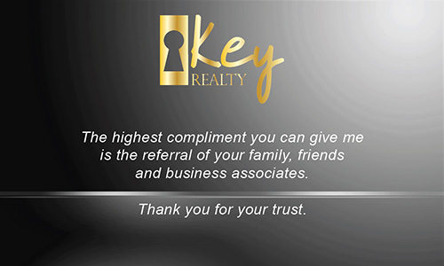 Gray Key Realty Business Card - Design #122043