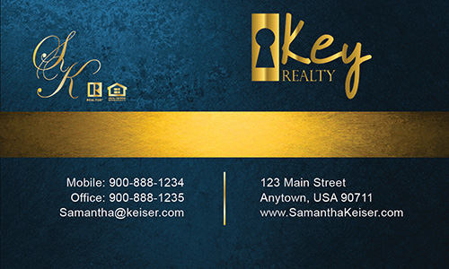 Blue Key Realty Business Card - Design #122051