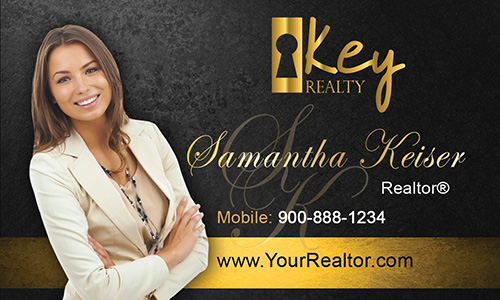 Black Key Realty Business Card - Design #122052