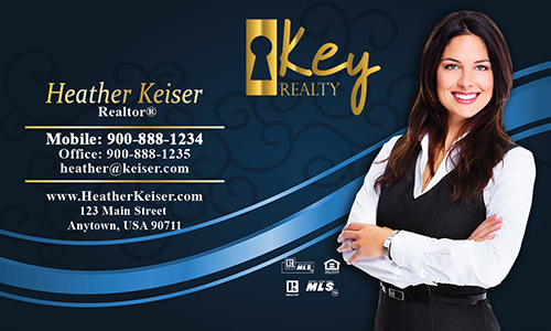 Blue Key Realty Business Card - Design #122062