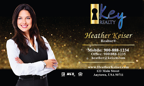 Yellow Key Realty Business Card - Design #122071