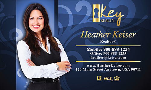 Blue Key Realty Business Card - Design #122081