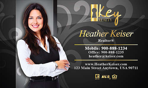 Black Key Realty Business Card - Design #122082