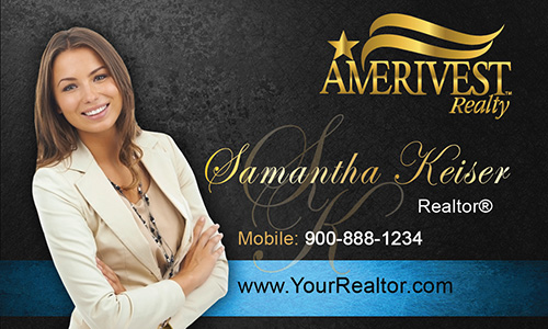Black Amerivest Realty Business Card - Design #124042