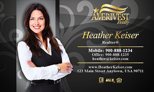 Black Amerivest Realty Business Card - Design #124051